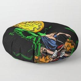 Pumpkin Head Floor Pillow