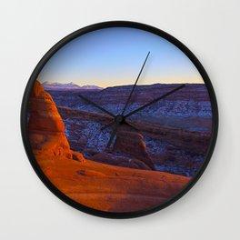 Image USA Utah Arches National Park Cliff Nature canyons park Crag Rock Canyon Parks Wall Clock