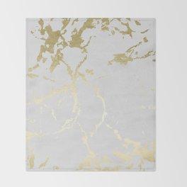 Kintsugi Ceramic Gold on Lunar Gray Throw Blanket
