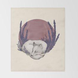 Fox & Lavender Throw Blanket