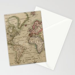Vintage Map of The World (1814) Stationery Cards