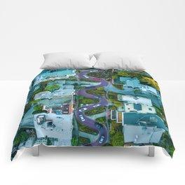 San Francisco Aerial (Color) Comforters