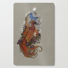 Phoenix Nest of Fire and Roses Cutting Board