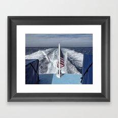 Salute color Framed Art Print