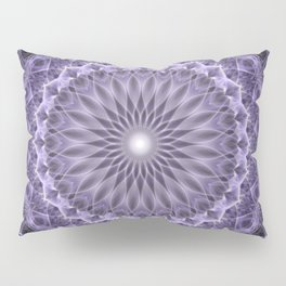 Pretty dark and light plum mandala Pillow Sham