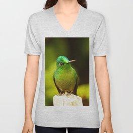 Emerald Green Unisex V-Neck
