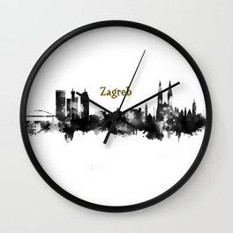 Skyline Zargreb Gold  Wall Clock
