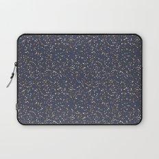 Speckles I: Dark Gold & Snow on Blue Vortex Laptop Sleeve