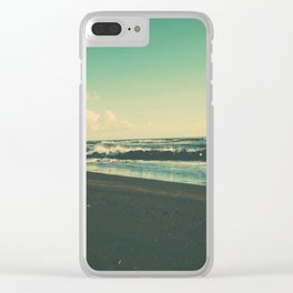 Dark Sand Beach Clear iPhone Case