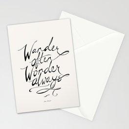 Wander Often Wonder Always™ Stationery Cards