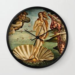Botticelli  -  The Birth Of Venus Wall Clock