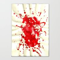 blood Canvas Prints featuring blood by LaSoffittaDiSte