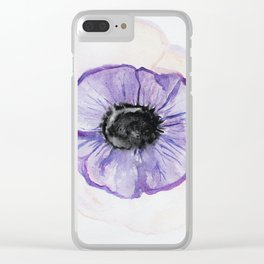 Pink Pansies, Watercolor pink Art, Blush Pink Blue Wall Art, Watercolor Flowers, Spring Decor, Flora Clear iPhone Case