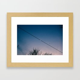 Slash Crescent Framed Art Print