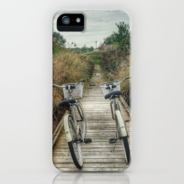 let's just ride bikes together iPhone Case