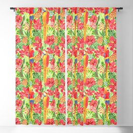 Land Of The Giant Hibiscus Blackout Curtain