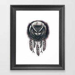 Dreamcatcher Owl Framed Art Print