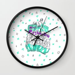 Mini Marshmellow Wall Clock