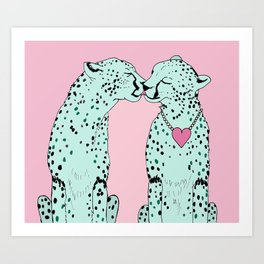Mint Chocolate Chip Cheetahs Art Print