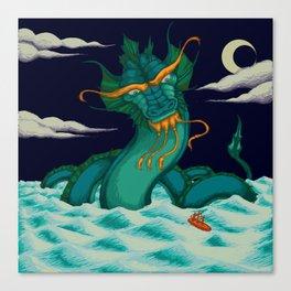 Water Dragon at Sea Canvas Print