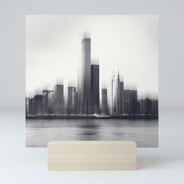 Rotterdam Skyline Abstraction Mini Art Print