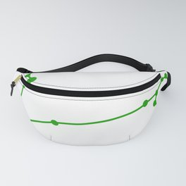 Pisces (Green & White) Fanny Pack
