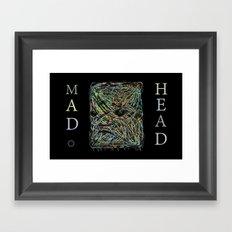 Mad Head Framed Art Print