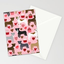 Pitbull valentine dog love rescue dogs valentines day hearts cupcakes dog gifts Stationery Cards
