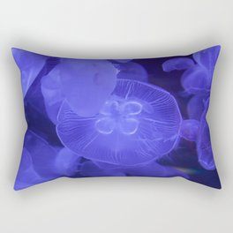 Moon Jelly Fish Rectangular Pillow