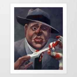 Al Capone, The Ugly. Art Print