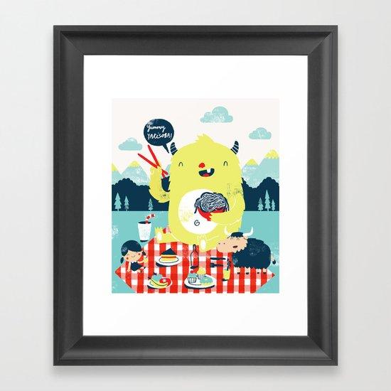 yummy yakisoba! Framed Art Print