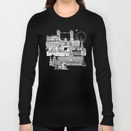 London toile black white Long Sleeve T-shirt