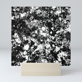 Bad Memories - black and white abstract painting Mini Art Print