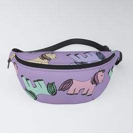 Ponies pattern Fanny Pack