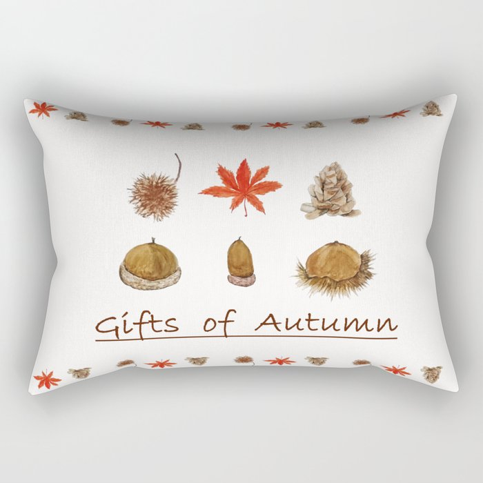 Gift of autumn watercolor painting Rectangular Pillow