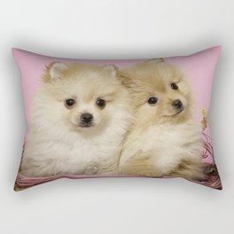 Pink Pomeranian Brothers Rectangular Pillow