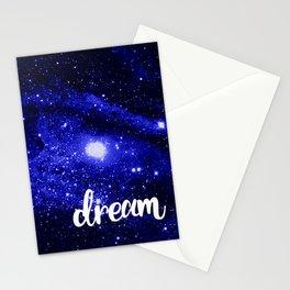 Blue Galaxy Dream Stationery Cards