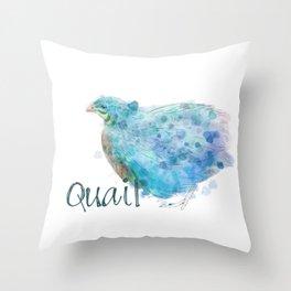 Blue Quail Throw Pillow