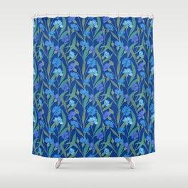 Cornflower field on bright blue Shower Curtain