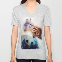 Animals Painting Unisex V-Neck