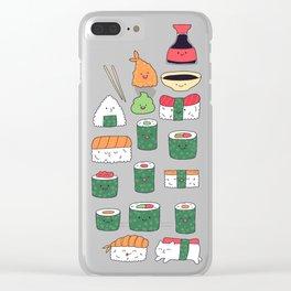 Kawaii sushi Clear iPhone Case