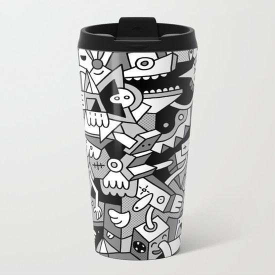Nifty Shades of Grey Metal Travel Mug