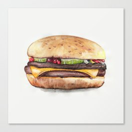 Color pencil Hamburger Canvas Print