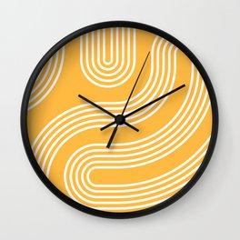 Curves - Yellow Wall Clock