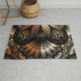 Autumn Fractal Pheasant Feathers in DaVinci Style Rug