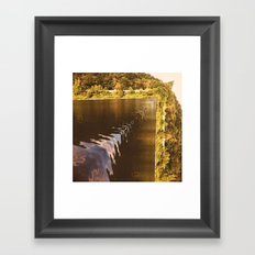 Waterfall or nah? Framed Art Print