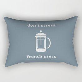 Don't Stress, French Press Rectangular Pillow