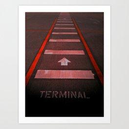 Terminal B Art Print