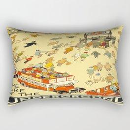 Vintage poster - London Underground Rectangular Pillow