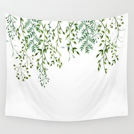 Watercolor Vines Wall Tapestry